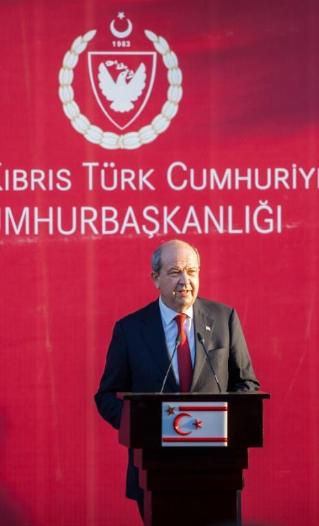 Newly elected Turkish-Cypriot leader Ersin Tatar (pictured October 23, 2020) is an advocate of a two-state solution with the Republic of Cyprus