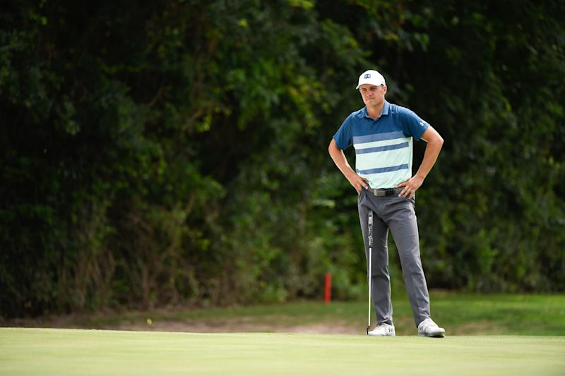 Spieth couldn't get the putter magic he rode over 54 holes to return on Sunday, settling for a closing 72 and fall eight strokes out of victory.