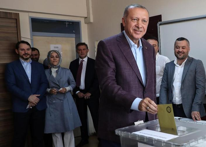 President Recep Tayyip Erdogan had claimed irregularities in the counting of the March mayoral vote (AFP Photo/Adem ALTAN)