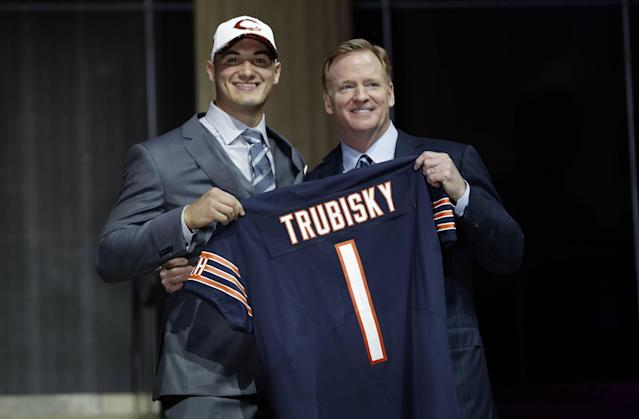 """The Bears traded up to take quarterback <a class=""""link rapid-noclick-resp"""" href=""""/ncaaf/players/225711/"""" data-ylk=""""slk:Mitch Trubisky"""">Mitch Trubisky</a> second overall. (AP)"""