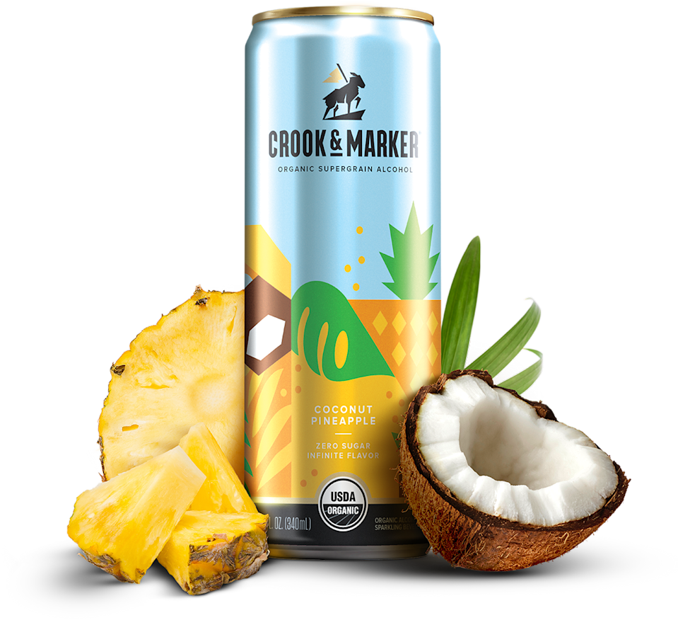"""<strong><h3><a href=""""https://crookandmarker.com/products/spiked-coconut/?"""" rel=""""nofollow noopener"""" target=""""_blank"""" data-ylk=""""slk:Crook & Marker Spiked Coconut"""" class=""""link rapid-noclick-resp"""">Crook & Marker Spiked Coconut</a></h3></strong> <br>I'm not going to lie, I'm pretty surprised that their resounding favorite was hard coconut water, but they couldn't stop talking about it. With zero sugar and <a href=""""https://crookandmarker.com/products/spiked-coconut/coconut-variety-pack/#nutrition-spiked-coconut-variety-pack"""" rel=""""nofollow noopener"""" target=""""_blank"""" data-ylk=""""slk:alcohol made from quinoa"""" class=""""link rapid-noclick-resp"""">alcohol made from quinoa</a>, the Crook & Marker Spiked Coconut is a breeze to drink and would be perfectly paired with a socially distant beach day. The college kids' favorite flavor was pineapple coconut because it tasted like a piña colada, though personally I think the raspberry is much better. They described it as """"fire"""" and one tester even said, """"I don't like coconut, but I like this,"""" so, you know, maybe spiked coconut water is the future. They also were huge fans of the matching <a href=""""http://crookandmarker.com/tastemask/"""" rel=""""nofollow noopener"""" target=""""_blank"""" data-ylk=""""slk:drinking mask"""" class=""""link rapid-noclick-resp"""">drinking mask</a> so 10/10 recommend.<br>"""