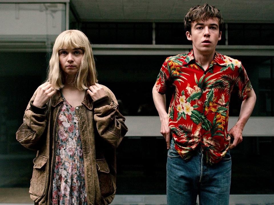 """Jessica Barden and Alex Lawther in """"The End of the F-----g World."""""""