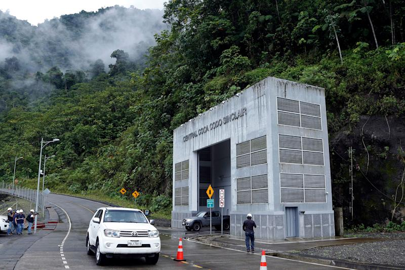 Outside view of the Coca Codo Sinclair hydroelectric power plant in Napo, Ecuador, on November 20, 2018. - According to authorities the assessment of structural damage found in the largest hydroelectric plant in Ecuador, which was built by Chinese company Sinohydro, will take about a year and the audit, that begins in December, will be carried out by the German firm Tuv Sud. (Photo by Cristina VEGA / AFP) (Photo credit should read CRISTINA VEGA/AFP/Getty Images)