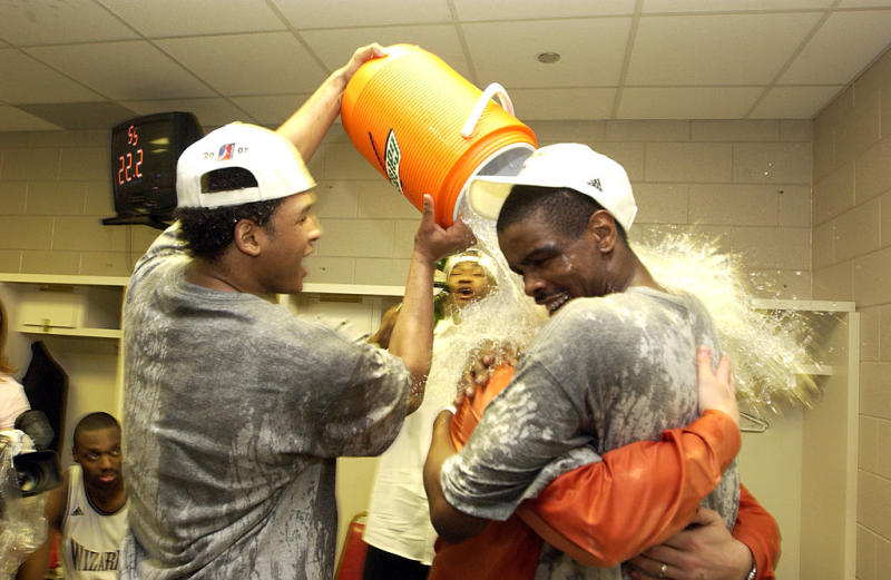 Believe it or not, the 2007 D-League champions actually gave their coach a Gatorade shower. (Getty Images)