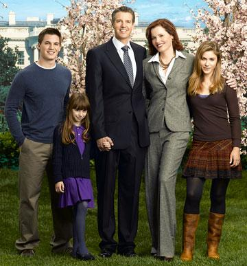 """Matt Lanter, Jasmine Anthony, Kyle Secor, Geena Davis and Caitlin Wachs ABC's Commander In Chief <a href=""""/baselineshow/4790385"""">Commander-in-Chief</a>"""
