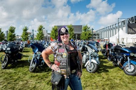 FILE PHOTO: Young, of Joilet, Illinois, poses for a picture during a Harley-Davidson Museum event in Milwaukee, Wisconsin