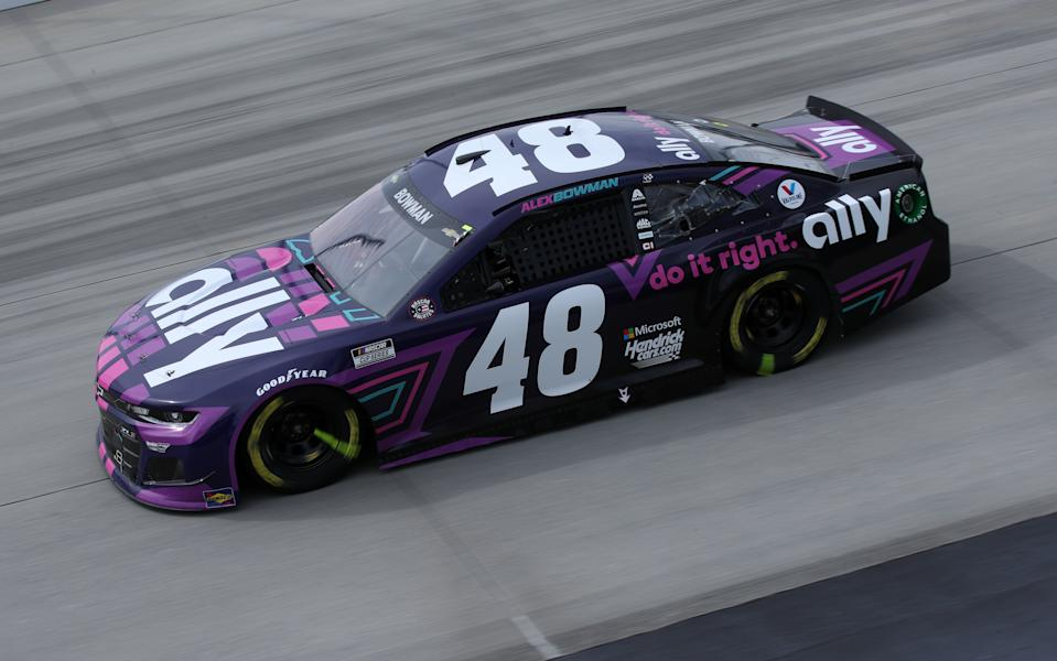 DOVER, DELAWARE - MAY 16: Alex Bowman, driver of the #48 Ally Chevrolet, races during the NASCAR Cup Series Drydene 400 at Dover International Speedway on May 16, 2021 in Dover, Delaware. (Photo by Sean Gardner/Getty Images)
