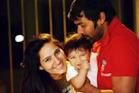 <p>We are so used to seeing him with Sriti Jha, that we forget that Shabbir is not only married to a different actress but also father to two wonderful kids. No doubts the boys have won the genetic lottery, but we can't get over that naughty smile – can you? </p>