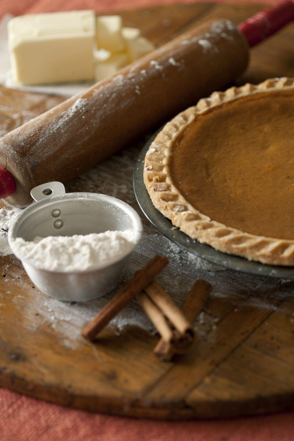 """<p>Celebrate Halloween with a pumpkin pie bake off. To keep things easy, have everyone bring over their dessert fresh out of the oven, then have a panel of unbiased judges (maybe the kiddos?) rate them on taste and presentation.</p><p><a class=""""link rapid-noclick-resp"""" href=""""https://www.amazon.com/Farberware-5172565-Advantage-Ceramic-10-Inch/dp/B07M9CJR8W/?tag=syn-yahoo-20&ascsubtag=%5Bartid%7C10072.g.28787574%5Bsrc%7Cyahoo-us"""" rel=""""nofollow noopener"""" target=""""_blank"""" data-ylk=""""slk:SHOP PIE PANS"""">SHOP PIE PANS</a></p>"""