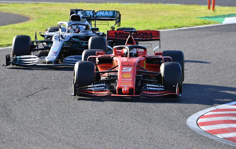 Hamilton and Ferrari's Sebastian Vettel have been rivals for much of the last decade. (Credit: Getty Images)