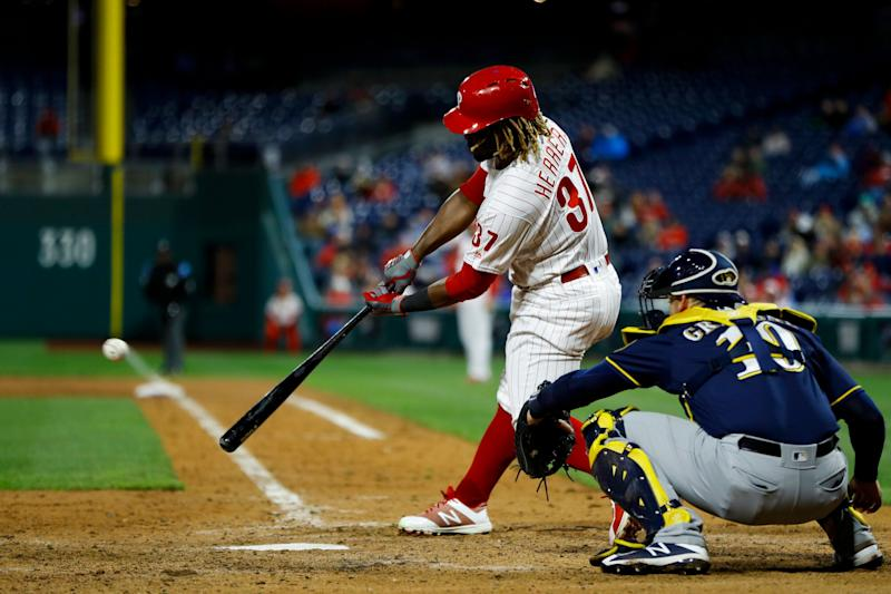 Philadelphia Phillies outfielder Odubel Herrera was arrested for simple assault Monday following an alleged domestic violence incident.