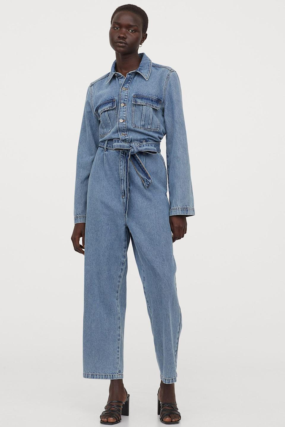 <p>You can never go wrong with this <span>H&amp;M Denim Jumpsuit</span> ($50).</p>
