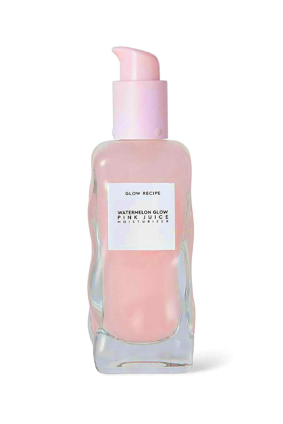 """<p><strong>Glow Recipe</strong></p><p>sephora.com</p><p><strong>$21.00</strong></p><p><a href=""""https://go.redirectingat.com?id=74968X1596630&url=https%3A%2F%2Fwww.sephora.com%2Fproduct%2Fwatermelon-pink-juice-moisturizer-P428819&sref=https%3A%2F%2Fwww.marieclaire.com%2Fbeauty%2Fg34399769%2Fbest-oil-free-moisturizers%2F"""" rel=""""nofollow noopener"""" target=""""_blank"""" data-ylk=""""slk:SHOP IT"""" class=""""link rapid-noclick-resp"""">SHOP IT</a></p><p>Breathe me in, breathe me out. Watermelon extract is the first and most prominent ingredient in this pleasing pink elixir. Here it combines with hyaluronic acid and peony and sweet potato extracts to deliver an efficacious and fun-to-use hydration. </p>"""