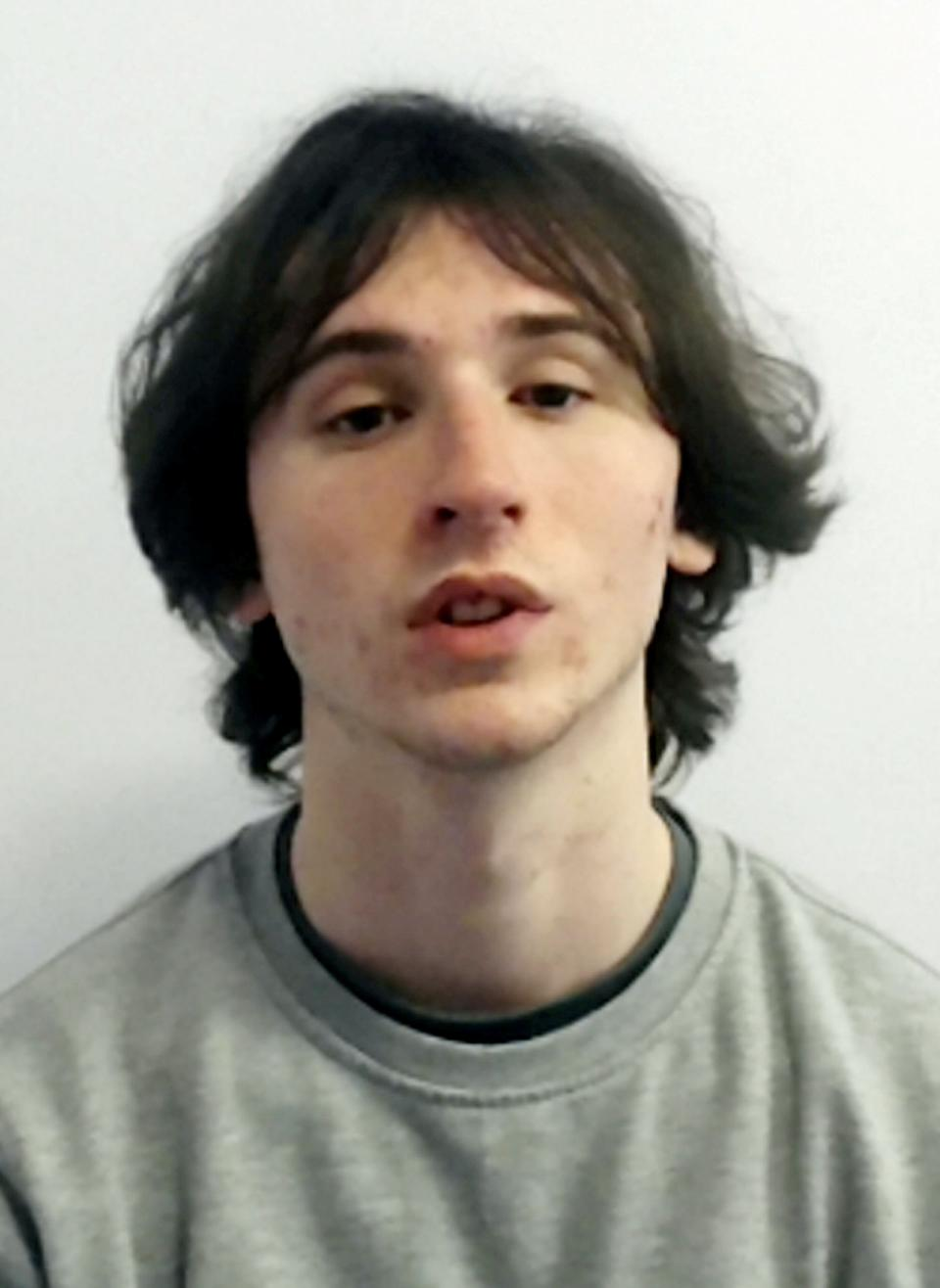 Michael Wilson 20, was sentenced on Friday for manslaughter and conspiracy to rob and jailed for nine years (swns)