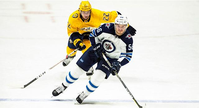 "The <a class=""link rapid-noclick-resp"" href=""/nhl/teams/wpg"" data-ylk=""slk:Winnipeg Jets"">Winnipeg Jets</a> have been slightly better than the Predators in the postseason. (Photo by Ronald C. Modra/NHL/Getty Images)"