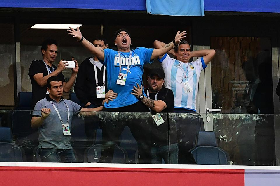 Diego Maradona, meanwhile, needed medical treatment after celebrating the last goal