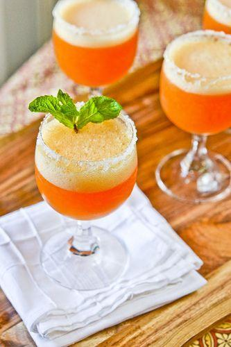 """<p>This recipe includes variations for a more liquid or slushy-like consistency.</p><p>Get the recipe from <a href=""""http://www.fullforkahead.com/2012/01/04/peach-champage-cocktails/"""" rel=""""nofollow noopener"""" target=""""_blank"""" data-ylk=""""slk:Full Fork Ahead"""" class=""""link rapid-noclick-resp"""">Full Fork Ahead</a>.</p>"""