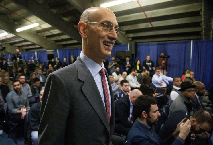 NBA commissioner Adam Silver is softening his stance on the league's draft age restrictions. (AP)
