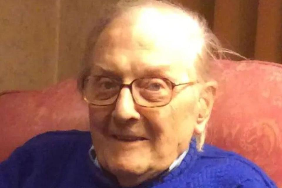 Peter Gouldstone, 98, was attacked in his own home  (Scotland Yard)