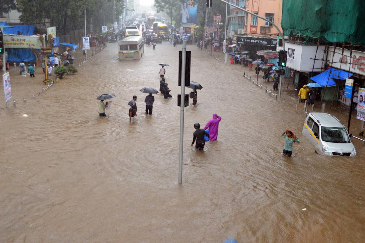 India's financial capital was crippled by heavy rains as normal life came to a standstill on Wednesday.