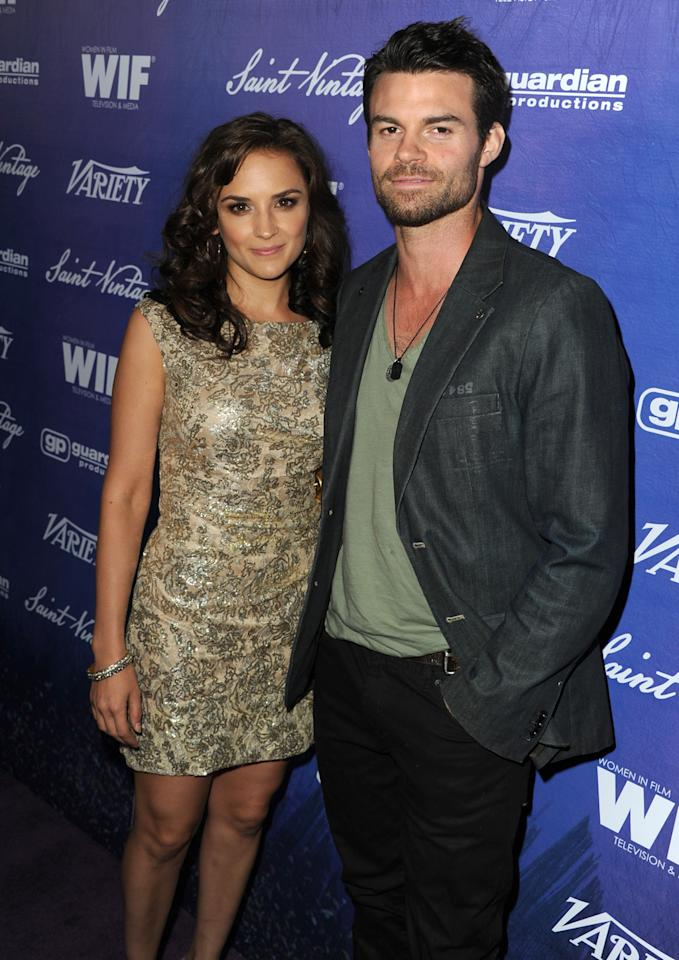 Actress Rachael Leigh Cook (L) and Actor Daniel Gillies (R) arrive at Variety and Women in Film Pre-EMMY Event presented by Saint Vintage at Montage Beverly Hills on September 21, 2012 in Beverly Hills, California.  (Photo by Kevin Winter/WireImage)