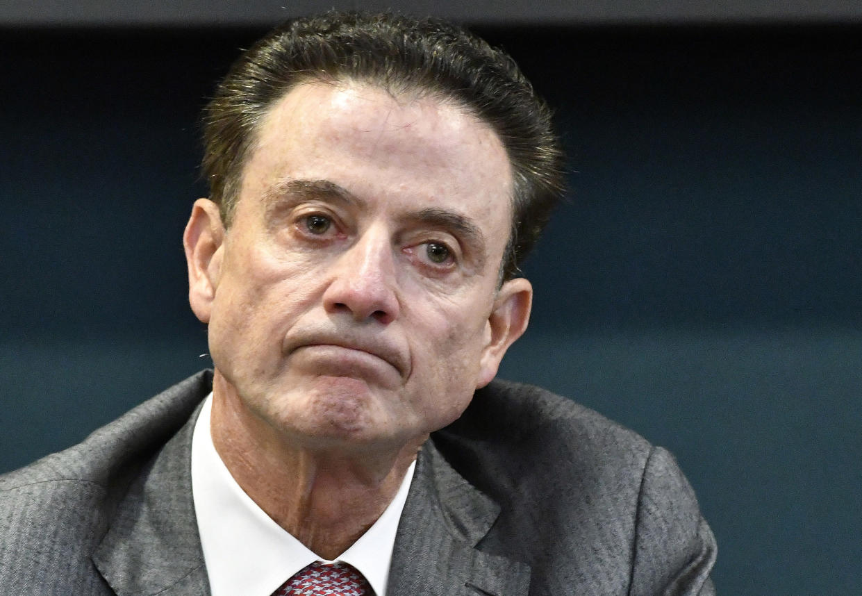 Rick Pitino admits that he's probably done coaching college basketball. (AP Photo)
