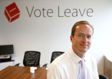 FILE PHOTO: Head of Vote Leave, Matthew Elliott, poses for a photograph at the Vote Leave campaign headquarters in London