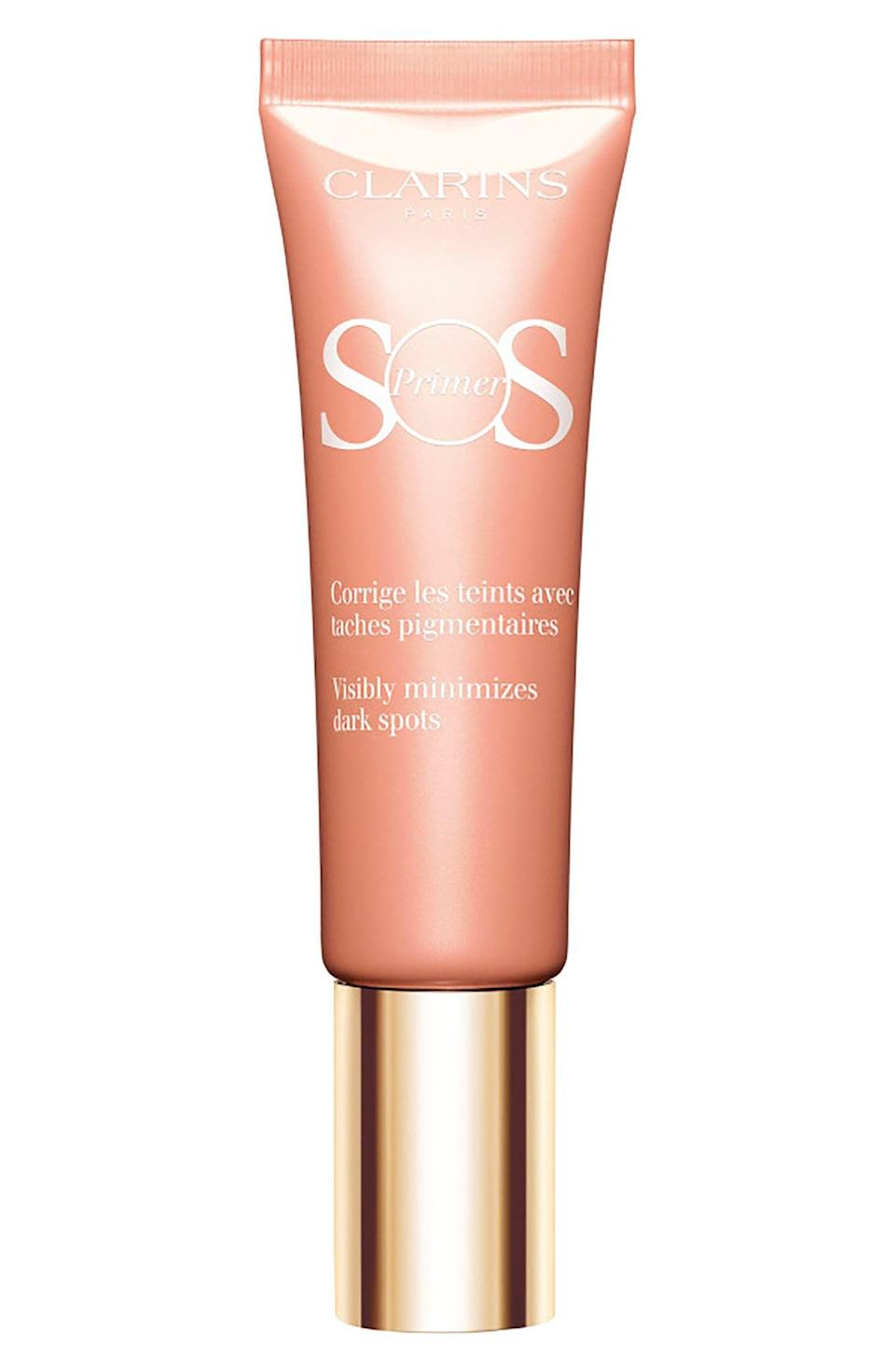 """<p>""""As a longtime acne sufferer, my face has quite a few scars that are hard to cover up. I recently started using this <span>Clarins SOS Primer</span> ($39) and have been fielding compliments daily on how good my skin looks. This consistency is silky smooth, and my skin soaks it right up. Before I even apply my foundation, my skin instantly looks more even, brighter, and glowing. Once I follow up with my usual products, it makes my makeup look even better."""" - Krista Jones, editor, shop</p>"""