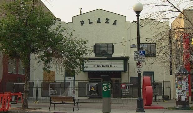 The Plaza Theatre in Kensington is under renovation, as new tenants get ready to bring the screen back to life. (Mike Symington/CBC - image credit)