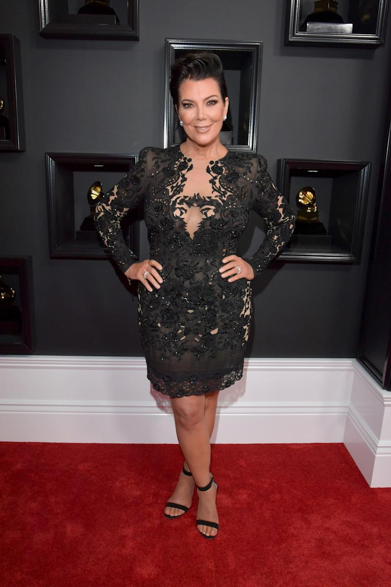 LOS ANGELES, CA - FEBRUARY 12: TV personality Kris Jenner attends The 59th GRAMMY Awards at STAPLES Center on February 12, 2017 in Los Angeles, California. (Photo by Lester Cohen/WireImage)