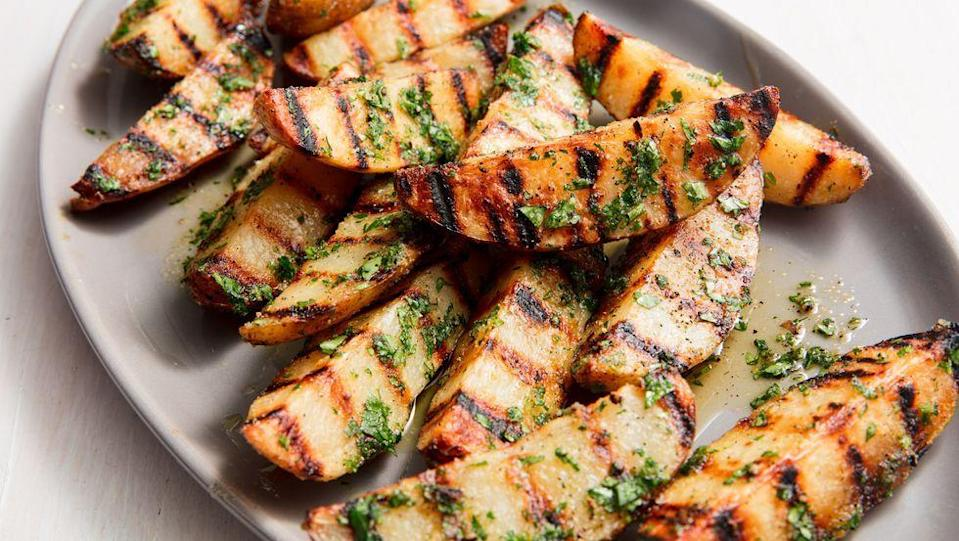 """<p>These potatoes are the <em>perfect</em> summer side.<br></p><p>Get the recipe from <a href=""""https://www.delish.com/cooking/recipe-ideas/a20164811/best-grilled-potatoes-recipe/"""" rel=""""nofollow noopener"""" target=""""_blank"""" data-ylk=""""slk:Delish"""" class=""""link rapid-noclick-resp"""">Delish</a>.</p>"""