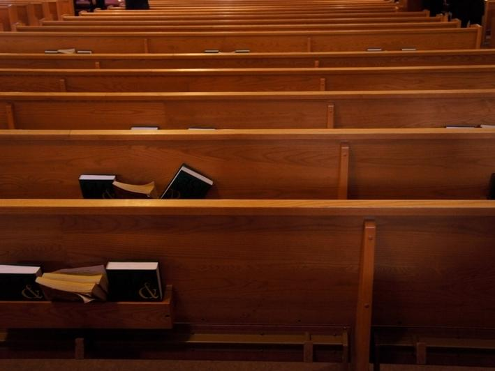 Worshipers must practice 6-foot social distancing and wear masks when attending service.
