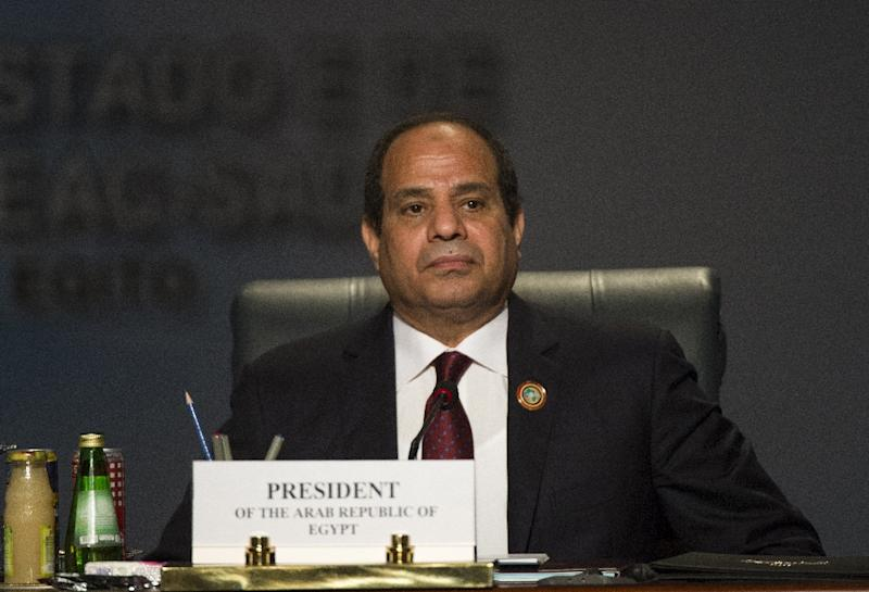 Egypt's President Abdel Fattah al-Sisi was one of the four signatories to the Tripartite Free Trade Area (TFTA) during a summit in the Red Sea resort of Sharm el-Sheikh, on June 10, 2015 (AFP Photo/Khaled Desouki)