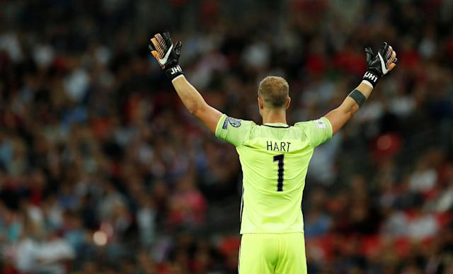 <p>Soccer Football – 2018 World Cup Qualifications – Europe – England vs Slovakia – London, Britain – September 4, 2017 England's Joe Hart Action Images via Reuters/John Sibley </p>