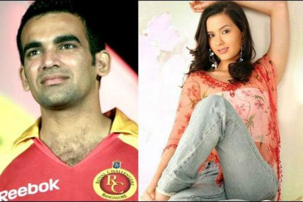 <b>8. Zaheer Khan and Isha Sharvani</b><br><br>The pretty actress and the dashing bowler were in a relationship for more than two years. However, the couple split so as to concentrate in their respective careers. Despite attempts to rekindle their romance, the pair could not keep their love alive.