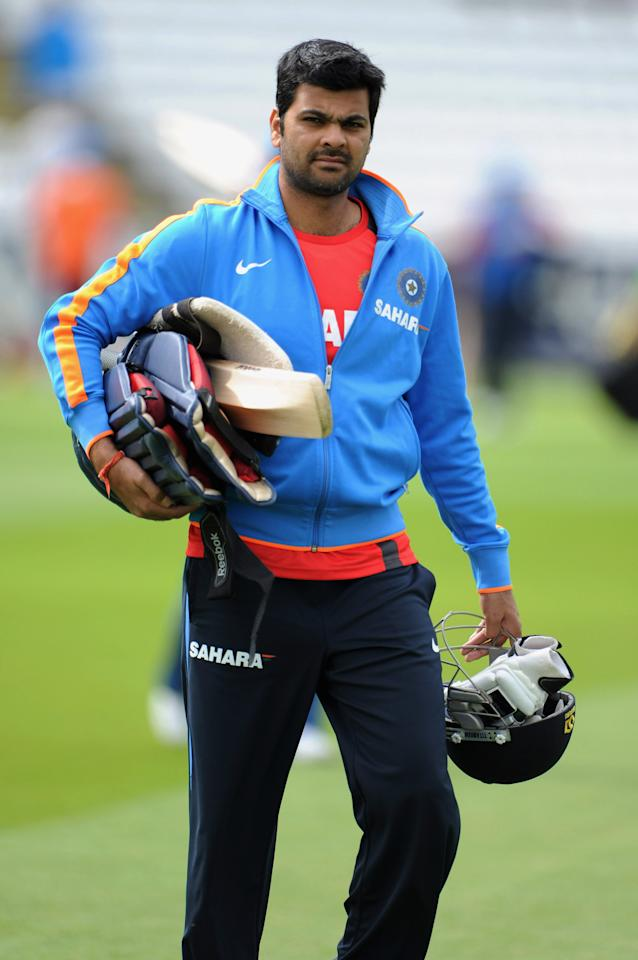 CHESTER-LE-STREET, ENGLAND - SEPTEMBER 02:  RP Singh of India attends a nets session at The Riverside on September 2, 2011 in Chester-le-Street, England.  (Photo by Gareth Copley/Getty Images)