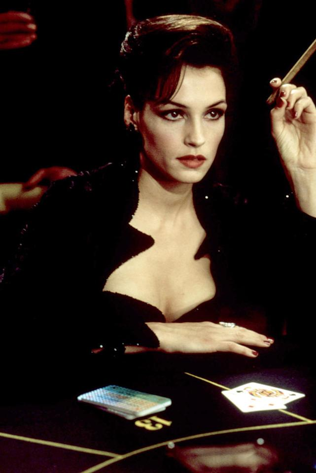 """XENIA ONATOPP   MOVIE: <a href=""""http://movies.yahoo.com/movie/1800249529/info"""">GoldenEye</a>  ACTRESS: <a href=""""http://movies.yahoo.com/movie/contributor/1800021195"""">Famke Janssen</a>  ALLEGIANCE: Soviet Military/Janus Syndicate  LAST SEEN: Getting crushed to death by an ugly combination of a safety harness, a tree, and a plunging helicopter.  SPECIAL SKILLS: Russian fighter pilot, skilled baccarat player, really enjoys killing men with her thighs."""