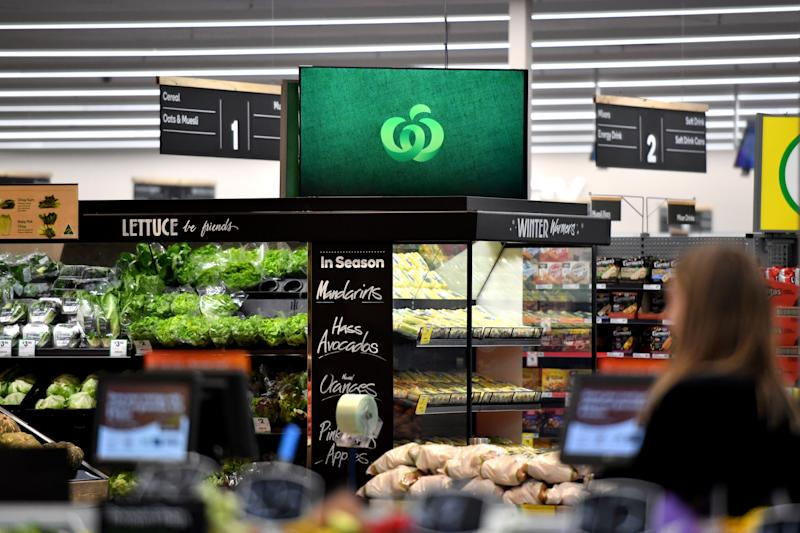 The interior of a Woolworths store. Source: AAP