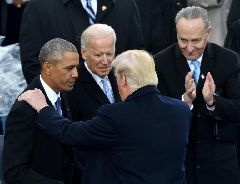 Despite US President Donald Trump's friendly gesture to outgoing president Barack Obama at the inauguration, Trump has spent his first term attacking his predecessor