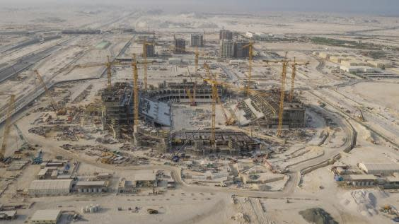 The 85,000-capacity Lusail Stadium is currently under construction (Getty)