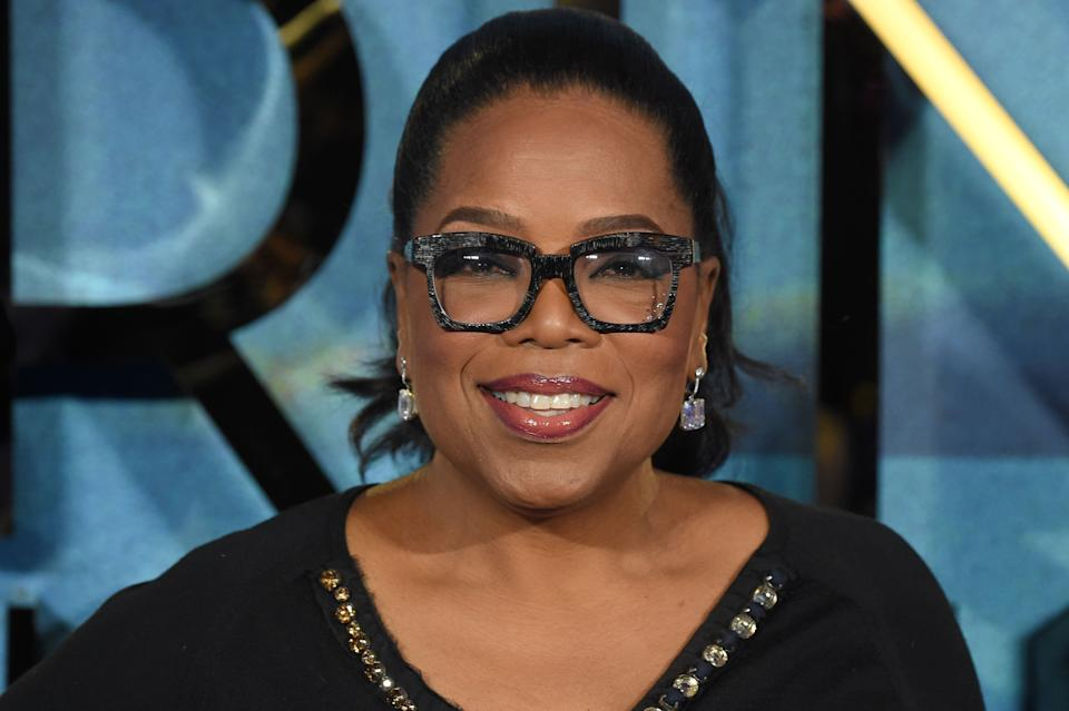 US chat show host Oprah Winfrey poses during the European premiere of A Wrinkle in Time in London on March 13, 2018. (Photo by Anthony HARVEY / AFP) (Photo by ANTHONY HARVEY/AFP via Getty Images)