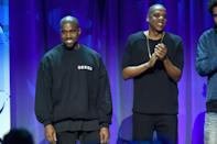 <p>Kanye West made his fallout with Jay Z very public after the rapper badmouthed his former bestie and lashed out at his wife Beyonce during an onstage rant last year. Kanye blasted the billionaire music couple for ignoring him and trying to steal his shine. [GETTY] </p>