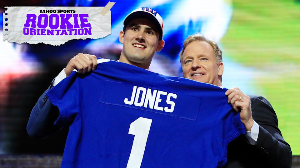 New York Giants first-year QB Daniel Jones and his shocking selection are the subject of the season finale of Rookie Orientation. (Photo by Andy Lyons/Getty Images)