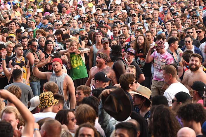 """A scene from Lollapalooza 2021 at Grant Park on July 31, 2021 in Chicago, Illinois.<span class=""""copyright"""">Kevin Mazur/Getty Images</span>"""