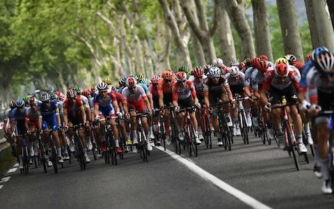 <span>Stage 16 got off to a lively start but, as yet, a breakaway has failed to stick</span> <span>Credit: Getty Images </span>
