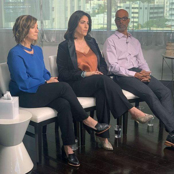 PHOTO: Libby Boyce and Victor Boyce, parents of the late Disney star, Cameron Boyce. speak out with senior director of the SUDEP institute, Sally Schaeffer, about a new PSA about sudden unexpected death in epilepsy awareness. (ABC News)