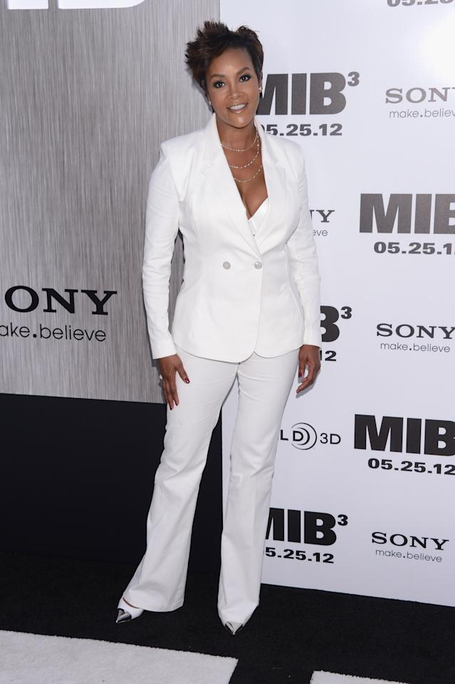 "NEW YORK, NY - MAY 23:  Vivica Fox attends the ""Men In Black 3"" New York Premiere at Ziegfeld Theatre on May 23, 2012 in New York City.  (Photo by Stephen Lovekin/Getty Images)"