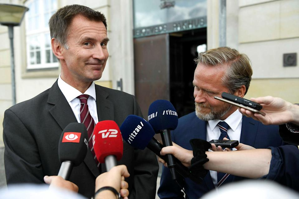 <em>Jeremy Hunt and Danish Foreign Minister Anders Samuelsen during the Foreign Secretary's tour to meet European politicians in a bid to gain their support for the Government's Brexit plan (Picture: Reuters)</em>
