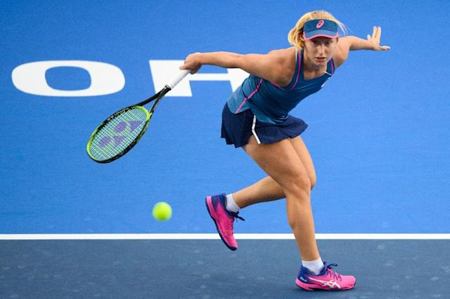 Daria Gavrilova, last year's runner up at the Hong Kong Open, needed almost three hours to dispatch unseeded Monica Niculescu (AFP Photo/Anthony WALLACE)
