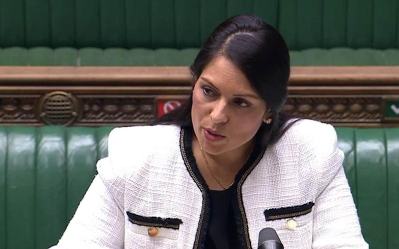 Home Secretary Priti Patel updates MPs in the House of Commons, London - PA